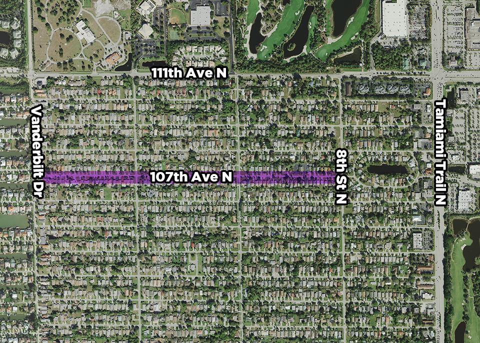 107th Avenue North Public Utility Renewal Project map