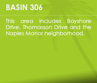 Basin 306 - This area includes Bayshore Drive, Thomasson Drive and the Naples Manor neighborhood.