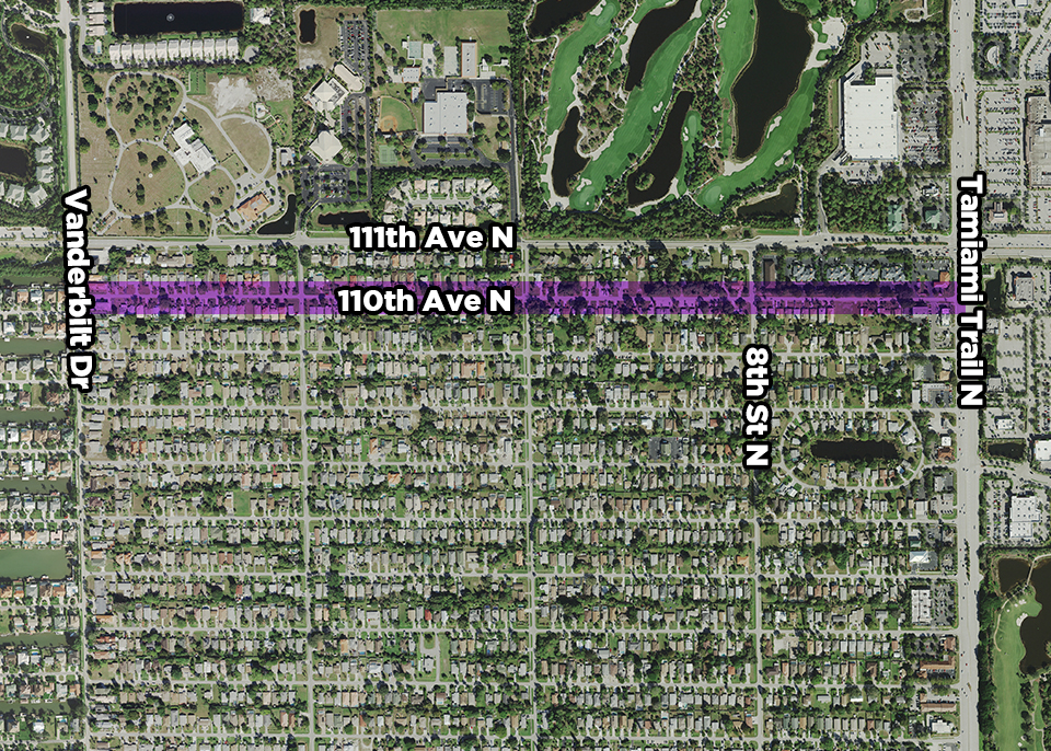 110th Ave Force Main map