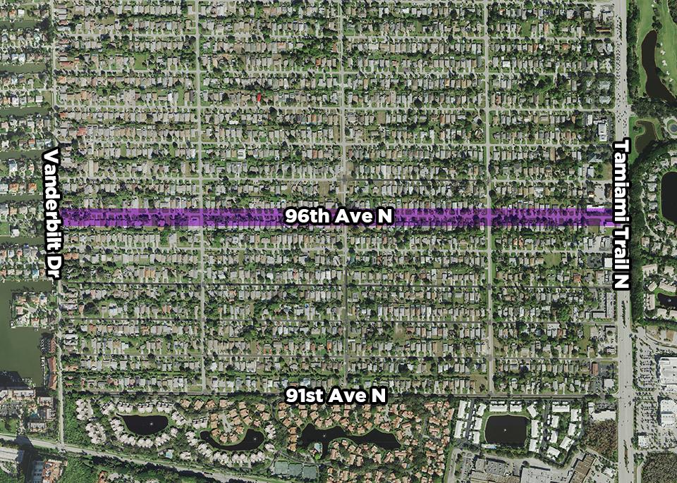96th Avenue North Public Utility Renewal Project map