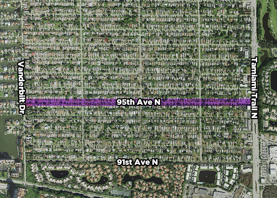 95th Avenue North Public Utility Renewal Project map