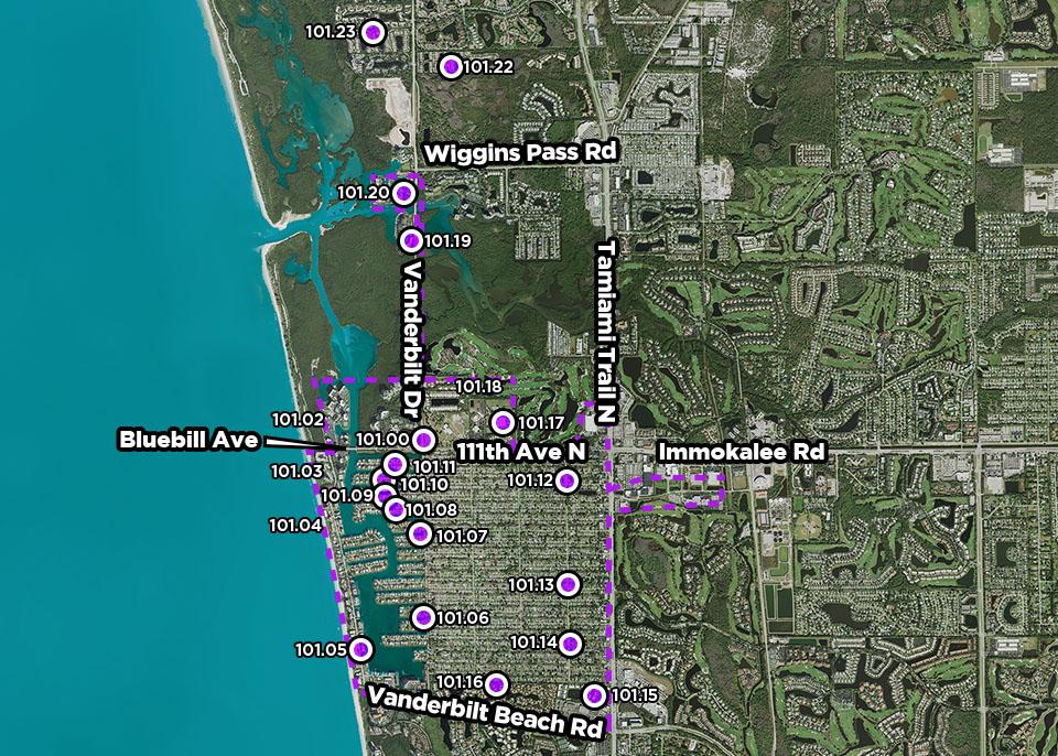 B101 Neighborhood Pump Stations Improvements map