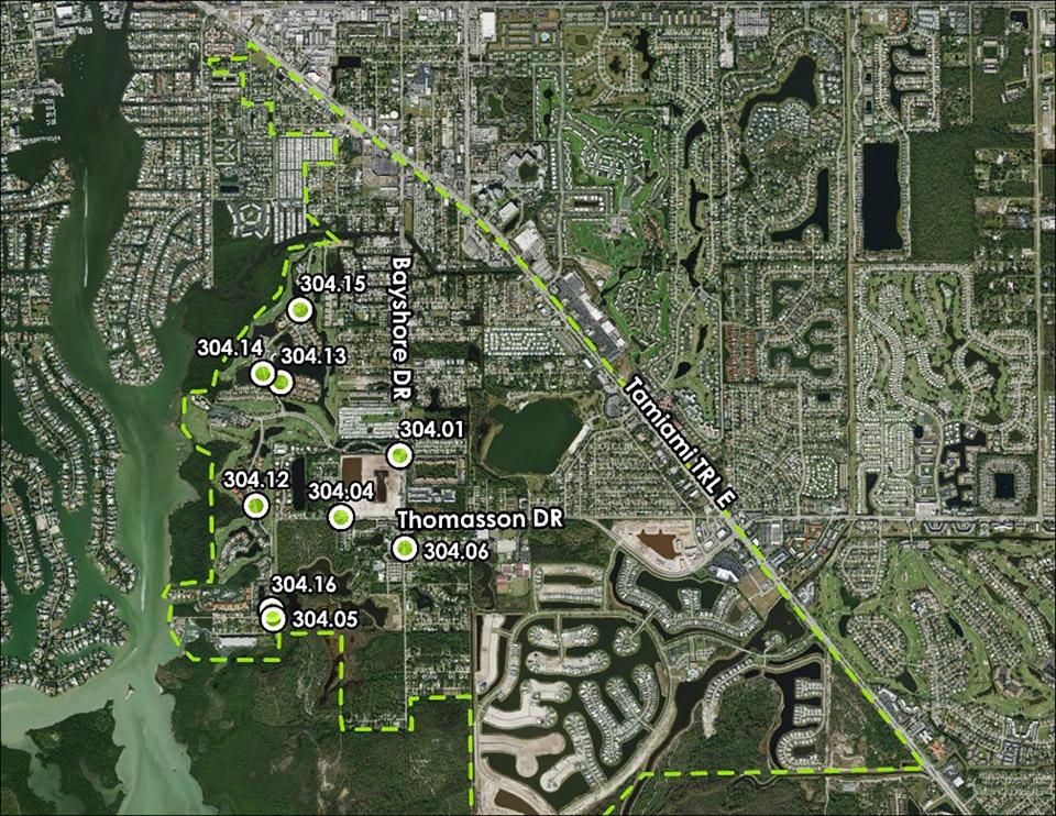 Basin 306 Neighborhood Pump Stations Rehabilitation group 2 map