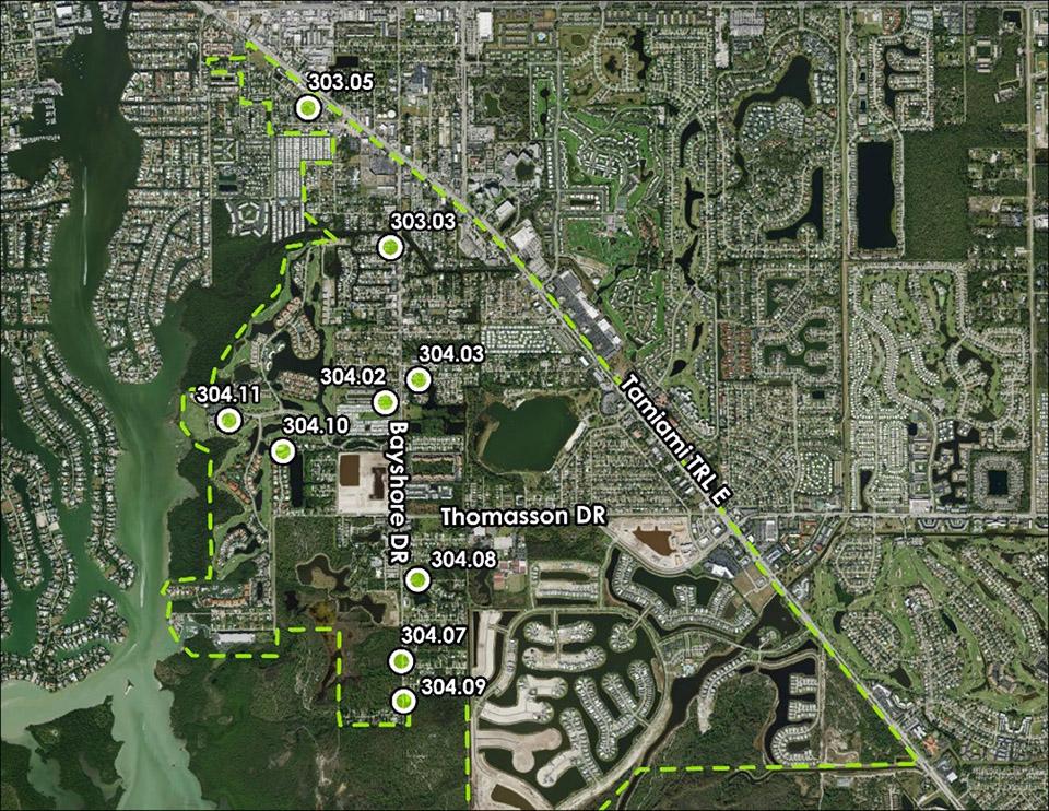 Basin 306 Neighborhood Pump Stations Rehabilitation group 3 map
